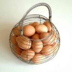 Huevos en una canasta