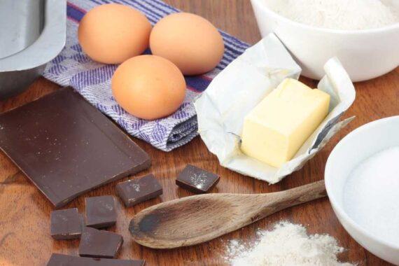 Cobertura de chocolate y sus ingredientes
