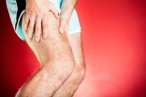 Pierna con contractura muscular