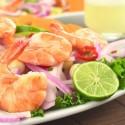 Plato de ceviche con pescado