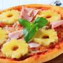 Pizza hawaiana casera